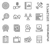 flat vector icon set   target... | Shutterstock .eps vector #1051299713
