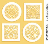 round and square line patterns  ... | Shutterstock .eps vector #1051302038