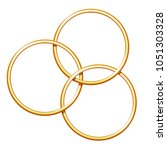 three linking metal rings for... | Shutterstock . vector #1051303328