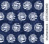 abstract folk polka dot graphic ...   Shutterstock . vector #1051306340