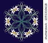 spring flowers. daffodil... | Shutterstock .eps vector #1051310618