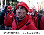 workers and pensioners protest... | Shutterstock . vector #1051313453