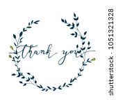 thank you hand drawn card....   Shutterstock .eps vector #1051321328