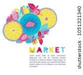 fresh market design concept....   Shutterstock .eps vector #1051321340