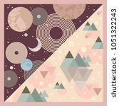 silk scarf design | Shutterstock .eps vector #1051322243
