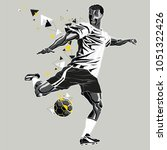 soccer player with a graphic... | Shutterstock .eps vector #1051322426