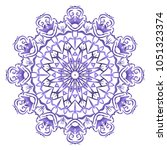 modern floral ornament. vector... | Shutterstock .eps vector #1051323374