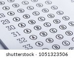 test score sheet with answers | Shutterstock . vector #1051323506