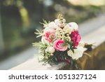beautiful wedding bouquet with... | Shutterstock . vector #1051327124
