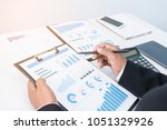 businessman's key research and ... | Shutterstock . vector #1051329926