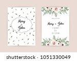 vector invitation with handmade ...   Shutterstock .eps vector #1051330049