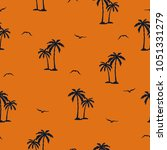 seamless palm trees pattern.... | Shutterstock .eps vector #1051331279