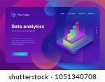 data analytics isometric... | Shutterstock .eps vector #1051340708