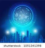 industry 4.0 concept image.... | Shutterstock .eps vector #1051341398