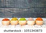 varity thai cuisine nam prik or ... | Shutterstock . vector #1051343873