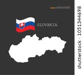 outline map of  slovakia with... | Shutterstock .eps vector #1051344698
