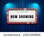 theater sign on curtain with... | Shutterstock .eps vector #1051344830