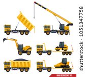 a set of construction machinery ... | Shutterstock .eps vector #1051347758