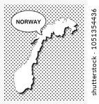 pop art map of norway | Shutterstock .eps vector #1051354436
