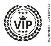 vip label on white background.... | Shutterstock .eps vector #1051354988