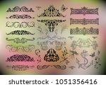 illustration of floral design... | Shutterstock .eps vector #1051356416
