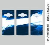 set of vector business card... | Shutterstock .eps vector #1051356608