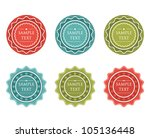 abstract collection of sale... | Shutterstock .eps vector #105136448