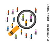 crowd behaviors measuring... | Shutterstock .eps vector #1051370894