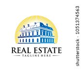 real estate vector logo... | Shutterstock .eps vector #1051374563