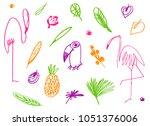 cartoon set of abstract... | Shutterstock .eps vector #1051376006