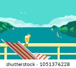summer seaside landscape. blue...   Shutterstock .eps vector #1051376228