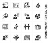 employment and business icons | Shutterstock .eps vector #105137738