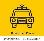police car vector icon | Shutterstock .eps vector #1051378814