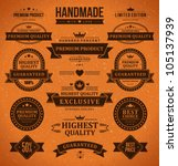 vintage labels and ribbon retro ... | Shutterstock .eps vector #105137939