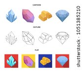 crystals  minerals  gold bars.... | Shutterstock .eps vector #1051385210