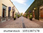 colonial street of tequila in...   Shutterstock . vector #1051387178