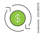 dollar currency exchange color...   Shutterstock .eps vector #1051389278