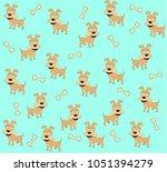 seamless patterned vector...   Shutterstock .eps vector #1051394279