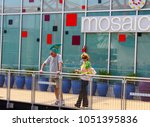 man with landshark hat and...   Shutterstock . vector #1051395836