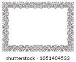 floral vector calligraphic frame   Shutterstock .eps vector #1051404533