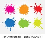 set of paint splatters. vector... | Shutterstock .eps vector #1051406414
