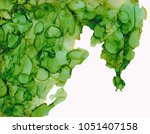 green alcohol ink background... | Shutterstock . vector #1051407158