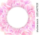 white round banner with pink... | Shutterstock .eps vector #1051407929