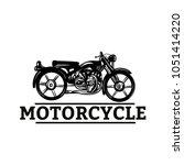 classic motorcycle vector.... | Shutterstock .eps vector #1051414220