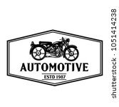 classic motorcycle vector.... | Shutterstock .eps vector #1051414238