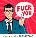 smiling businessman or man in... | Shutterstock .eps vector #1051417460