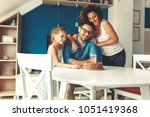 father's birthday.wife and... | Shutterstock . vector #1051419368