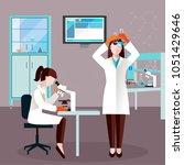 flat scientists people... | Shutterstock .eps vector #1051429646