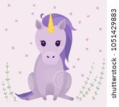 vector illustrations with cute... | Shutterstock .eps vector #1051429883