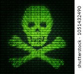 abstract symbol danger cyber... | Shutterstock . vector #1051432490